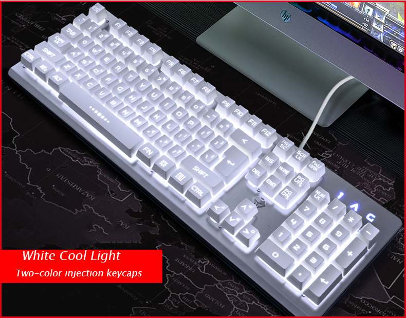 Wired Gaming keyboard RGB Backlit Keyboard Mechanical feeling Smart Voice Control Keyboard PC gamer Overwatch цена