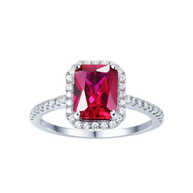 Hot Sale 3.6ct Pigeon Blood Red Ruby Engagement Bröllop Ring Pure - Fina smycken - Foto 2