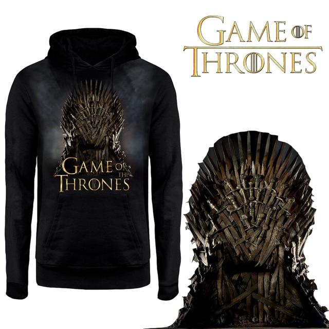 Adult Game of Thrones Jacket Targaryen Lannister Family Stark Hoodies Stark Sweatshirt Winter Is Coming Costume Plus Size Hoodie