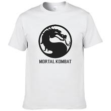 """Мужская и женская футболка с принтом """"Mortal Kombat"""", короткий рукав, футболка с круглым вырезом, летняя хлопковая футболка, топы, футболки#078"""