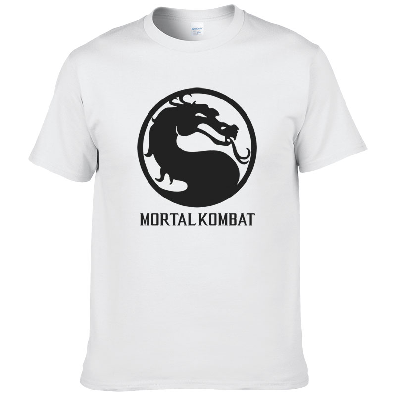 2017 Men Women Mortal Kombat Printed Short Sleeve O Neck   T     shirt   Summer Cotton   T  -  Shirt   Top Tees #078