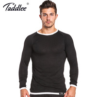 Taddlee Brand Long Sleeve T Shirts Men O Neck Basic Casual Streat Hip Hop Top Tees