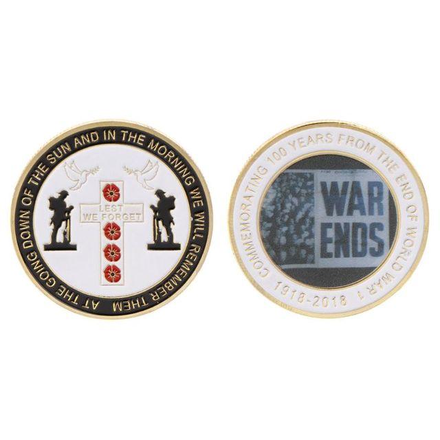 Commemorative Coin World War 100th Centennial Anniversary Souvenir Collection Pigeon Peace Coins Arts Gifts