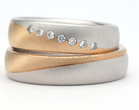luxury custom made gold colour classic Vintage Style Engagement wedding bands Rings sets for anniversary