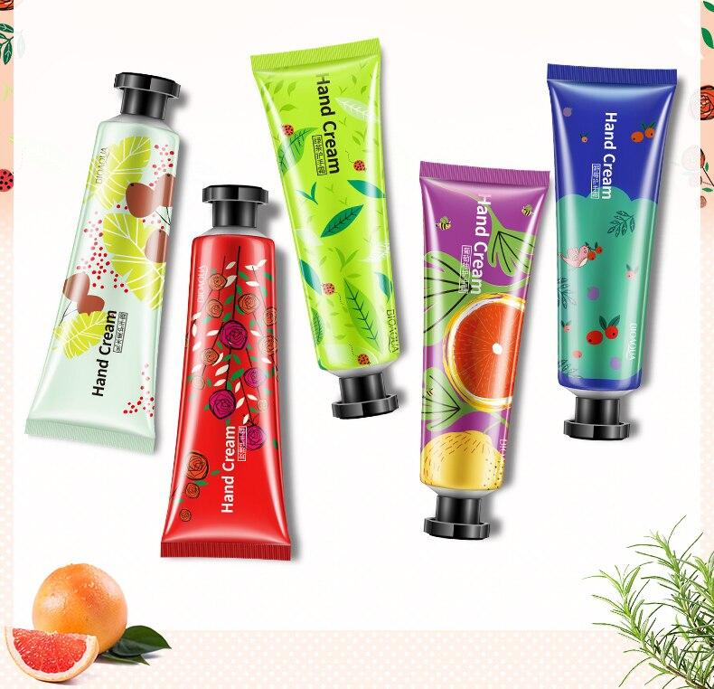 20boxes/lot 5pcs/box BIOAQUA Plant flavor Hand Cream Set Moisturizing Hydra Anti-chapping Whitening skin care set