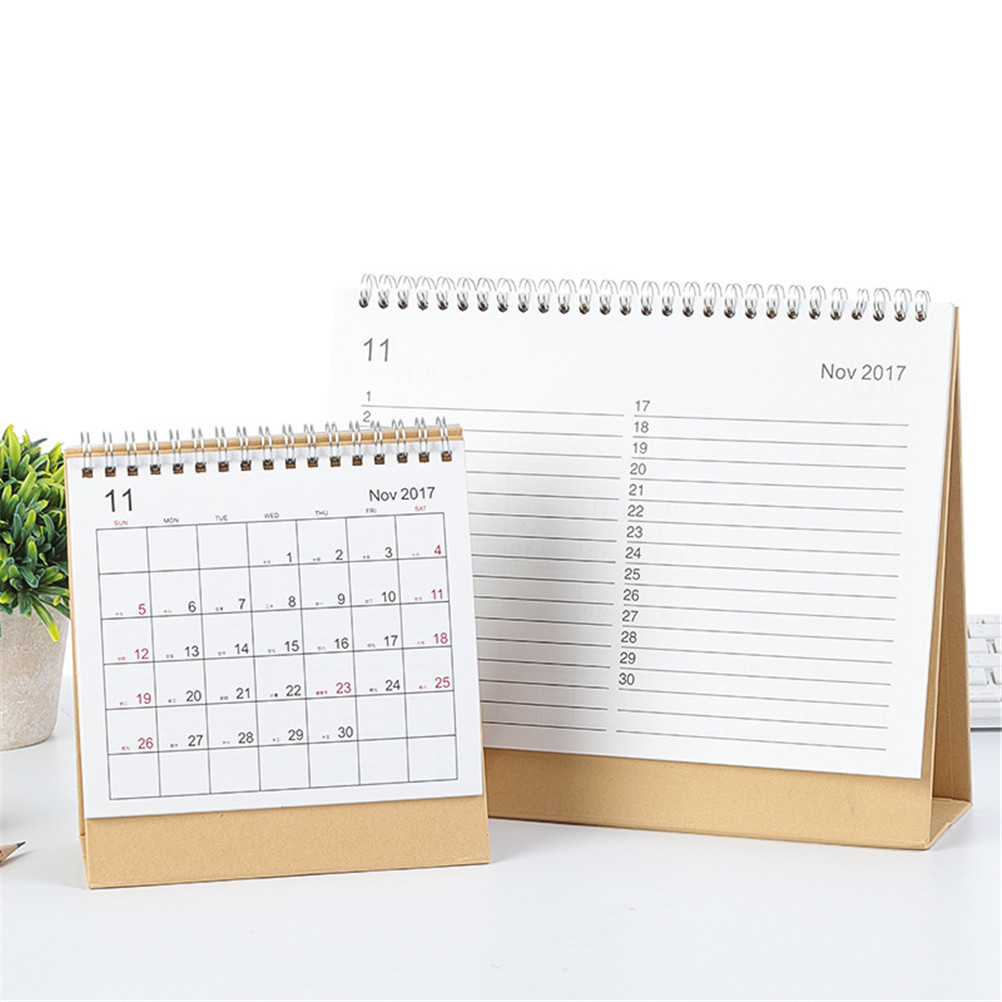 Office & School Supplies Calendars, Planners & Cards Capable Peerless 2018 Year Small/medium/large Schedule Table Standing Calendar Planner Book Calendar Seasonal 2018 Calendar Organizer Invigorating Blood Circulation And Stopping Pains