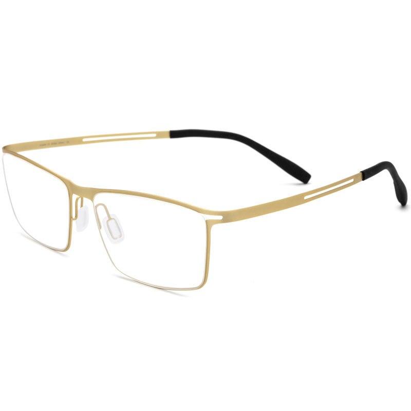 Mode titane lunettes cadre mâle ultra-léger affaires lunettes cadre Spectacle accessoires lunettes