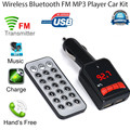 Hot Sale Car Mp3 Player Wireless Bluetooth LCD FM Transmitter Modulator USB Car Kit MP3 Music Player SD with Remote #UO