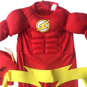 Image 4 - The flash Muscle Kids SHIRT comic Superhero fancy dress fantasia halloween costumes disfraces for child boys cosplay clothing