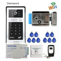 Free Shipping Wifi Video Door Phone Intercom Metal Outdoor Doorbell With RFID Code Keypad Access Remote