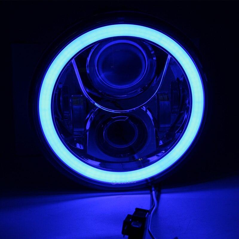 Lampe de phare LED ronde 7 avec yeux dangle DRL pour Honda CB 400 500 1300 frelon 250 600 900 VTR 250Lampe de phare LED ronde 7 avec yeux dangle DRL pour Honda CB 400 500 1300 frelon 250 600 900 VTR 250