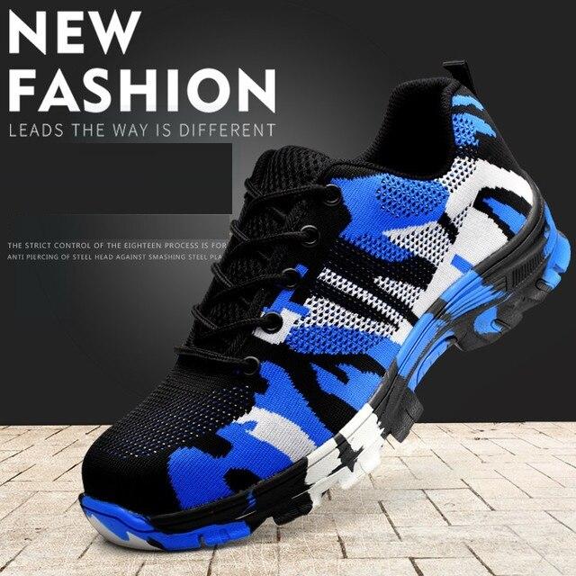 Anti Smashing zapatos mujer hombres cabeza de acero transpirable soldadura eléctrica aislados zapatos de seguridad contra pinchazos seguridad senderismo zapatos