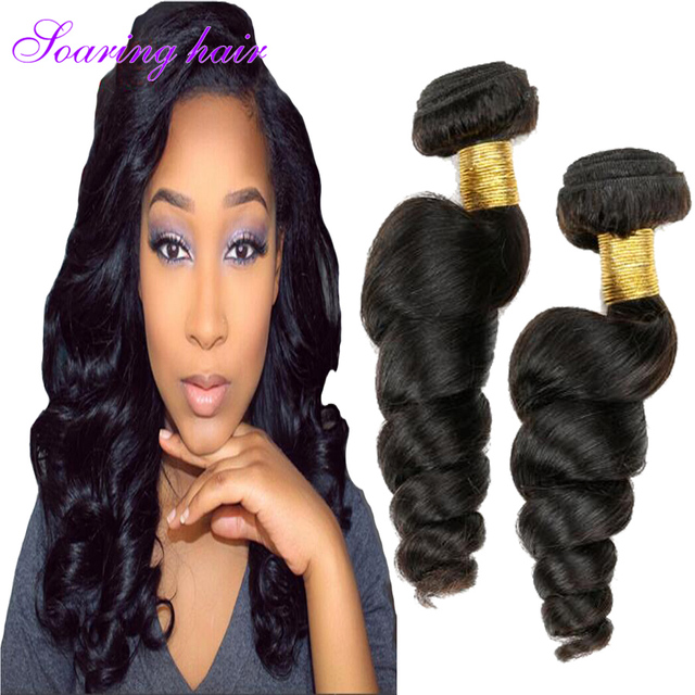 Maxglam Hair Brazilian Loose Wave 4 Bundles Deep Extensions Annabelle Weaves