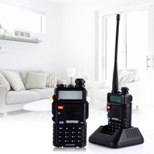 Hot Baofeng UV5R Walkie Talkie Dual Band Portable 5W Two Way Radio UHF&VHF 136-174MHz&400-520MHz with LCD Display EU Plug