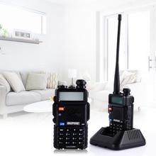 Hot Baofeng UV5R Walkie Talkie Dual Band Portable 5W Two Way Radio UHF&VHF 136-174MHz&400-520MHz with LCD Display EU Plug