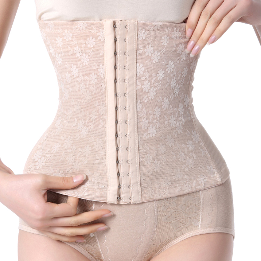 2cf6ee3c7366a Sexy Waist Trainer Corsets Slimming Underbust Bustier corselet Lady Girdle  Control Tummy Corset Beige Body Shapers for Trainer-in Waist Cinchers from  ...