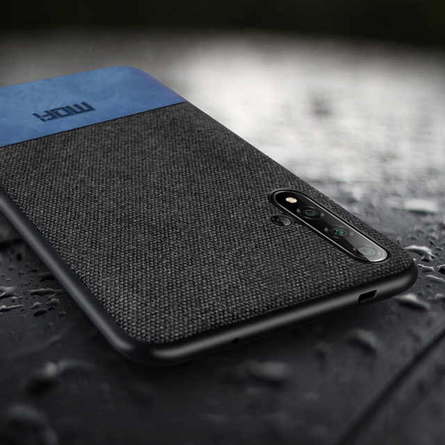 Für Huawei honor 20 fall abdeckung MOFi original honor20 pro zurück abdeckung stoff tuch schutzhülle silikon capas honor20 lite fällen