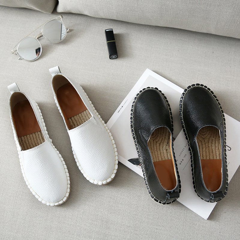 2018 Espadrilles Slipony Women Round Toe Flats Casual Shoes Brand Designer Ballet Flats Loafers Slip On Loafer Black White yeerfa fashion women loafers canvas shoes slipony oxford flats heels breathable slip on comfortable mix colors white black shoes