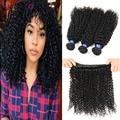 malaysian virgin hair kinky curly human hair weaves 4bundles/lot good quality malaysain afro curly virgin hair extensions
