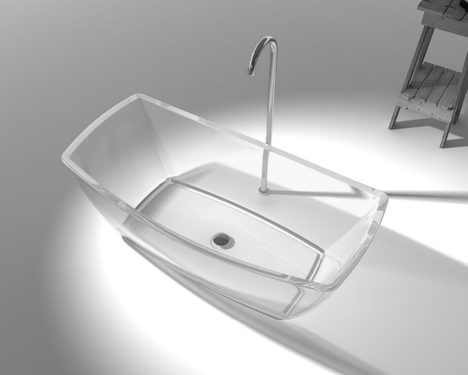 1600x800x580mm New Design Resin Acrylic Bathtub Colored Freestanding Rectangular Bathroom Tub CUPC Approval RS65133C