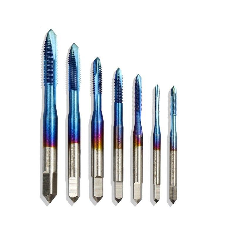 XCAN 1 шт. M2-M6 нано с синим покрытием резьбовой кран высокоскоростной стальной винт кран прямой хвостовик кран сверло