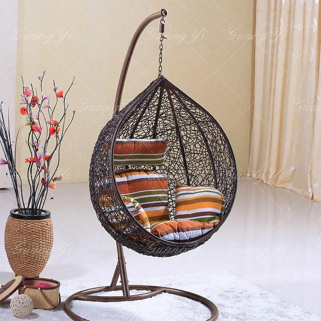 Rattan Outdoor Adult Nest Basket Swing Hanging Chair Indoor Rattan Wicker  Chair Leisure Chair Cradle Wholesale