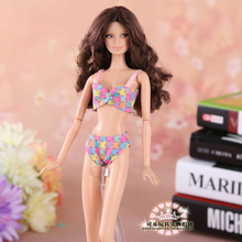 4 styles for choose Handmade Gifts For Girls Bikini top pant Swimwear Clothes For Barbie 1