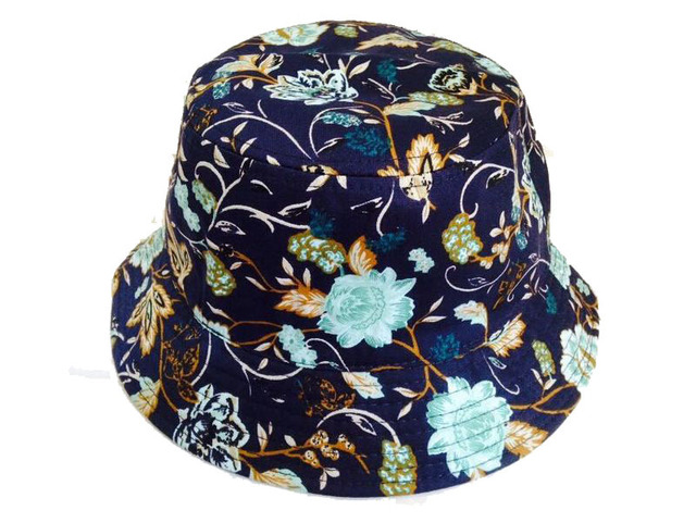 923303a24e0a1 Clásico encantador flores variet azul marino sombreros deportes ocasionales hip  hop chapeaus gorras pescador