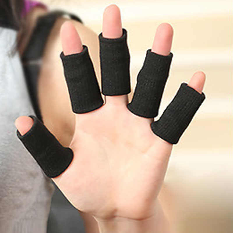 Newly 10pcs Basketbal Sports Finger Armfuls Knitted Finger Joints Slip Elastic Finger Tools Fingerstall Caps Protector 19ing