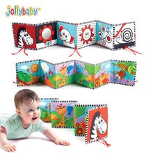 Jollybaby Crib Carrycot Bumper Cartoon Animal 3D Cloth Book Baby Bed Around Multi touch For Fun