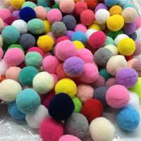 80 piezas aprox. 30mm Multicolor pompón piel artesanía DIY suave pompones bolas boda/decoración del hogar coser en accesorios paño