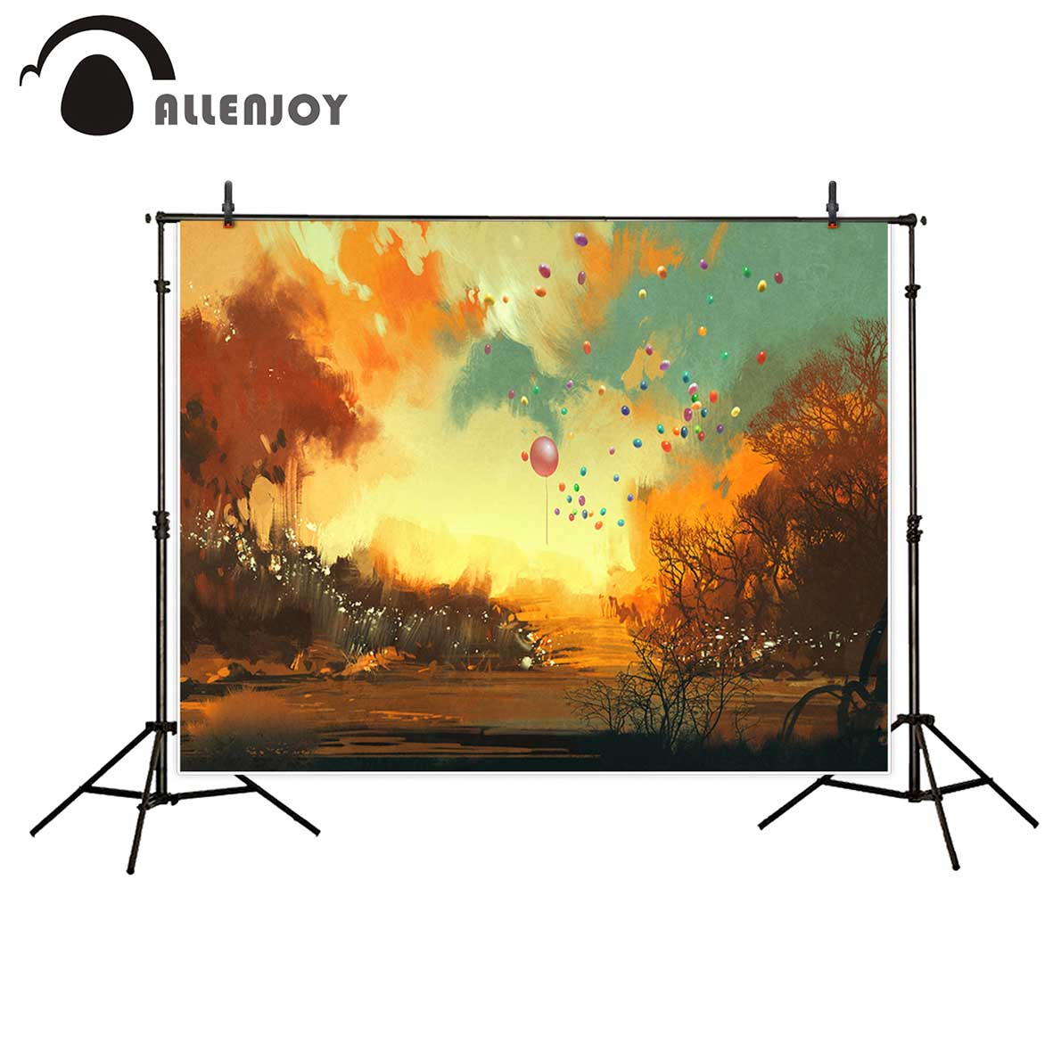 Allenjoy photography backdrops Ballons autumn painting tree backgrounds for children photo background for photography 600cm 300cm backgrounds painting flowers blooming beauty mother s day photography backdrops photo lk 1428
