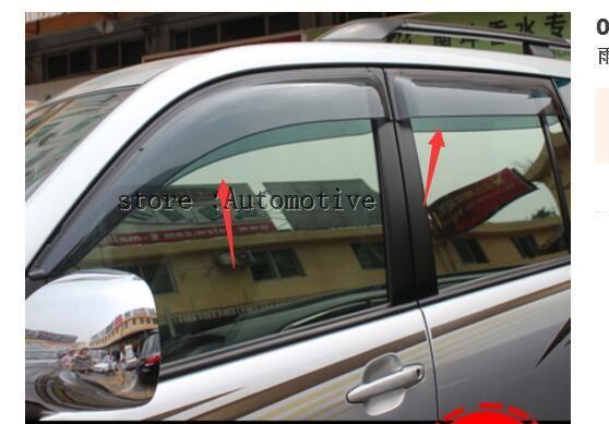 03-09 Voor Toyota Prado Fj120 Land Cruiser Window Visor Deflector Zon Regen Schaduw Vent 2003 2004 2005 2006 2007 2008 2009