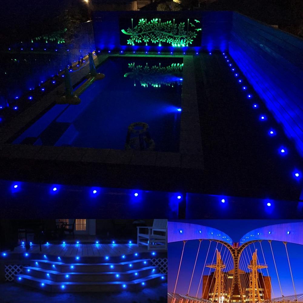 Image 4 - 10pcs/Set 45mm Outdoor Garden Landscape Stair Pathway Kickboard Recessed 12V Kitchen LED Deck Rail Step Soffit Lights-in LED Underground Lamps from Lights & Lighting