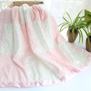 Image 4 - 80X110cm 2 layers star heart pattern patchwork fleece coral minky soft thermal toddler child baby blanket bedding quilt swaddle