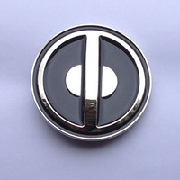 Retail Latest Styles 7cm Round Deadpool Belt Buckle With Pewter Fashion Woman Man Jeans Jewelry Accessories