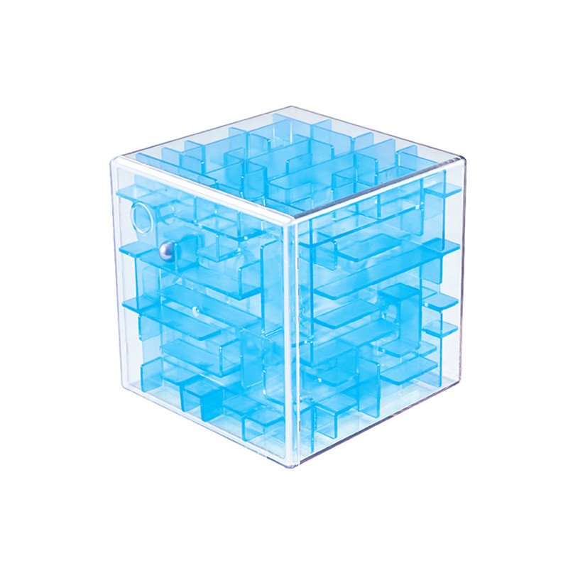 Baby Magic Cube Children Kids Professional Competition 3D Maze Puzzle Cube for Boys Girls Gifts Mini Brain Game Educational Toy image