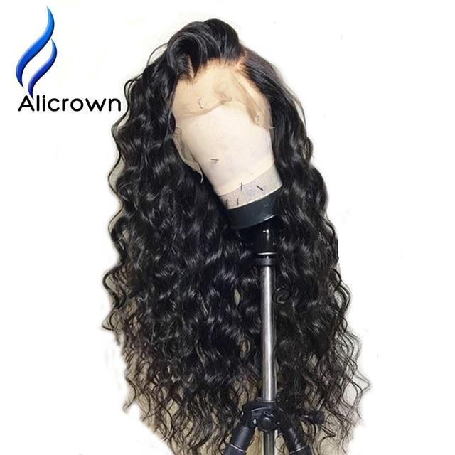 ALICROWN/короткие волнистые кружевные передние человеческие волосы, парики для женщин, бразильские Remy 13х4 кружевные парики с детскими волосами, предварительно выщипанные боковые части