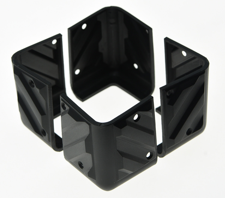 kaish set of 4 black plastic guitar amp speaker corner pa cabinets amplifier protector in guitar. Black Bedroom Furniture Sets. Home Design Ideas