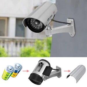 Image 2 - 2 adet kukla sahte kamera CCTV gözetim kamera dükkanı ev güvenlik LED ışık simülasyon kamera su geçirmez açık kamera
