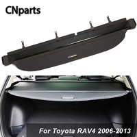 CNparts Car Rear Trunk Cargo Cover For Toyota RAV4 2006 2013 Car styling Black Security Shield Shade Auto Accessories