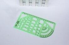 1 шт. рисунок хороший Шаблон Линейка Зеленые Пластик студенческой лаборатории канцелярские измерительный инструмент правителя школьные принадлежности