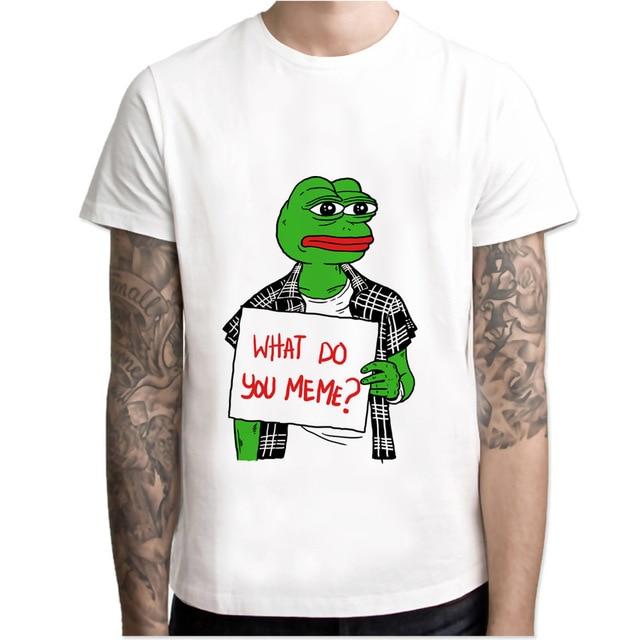 Memes pepe Meme T shirt men t shirt fashion t shirt O Neck ...