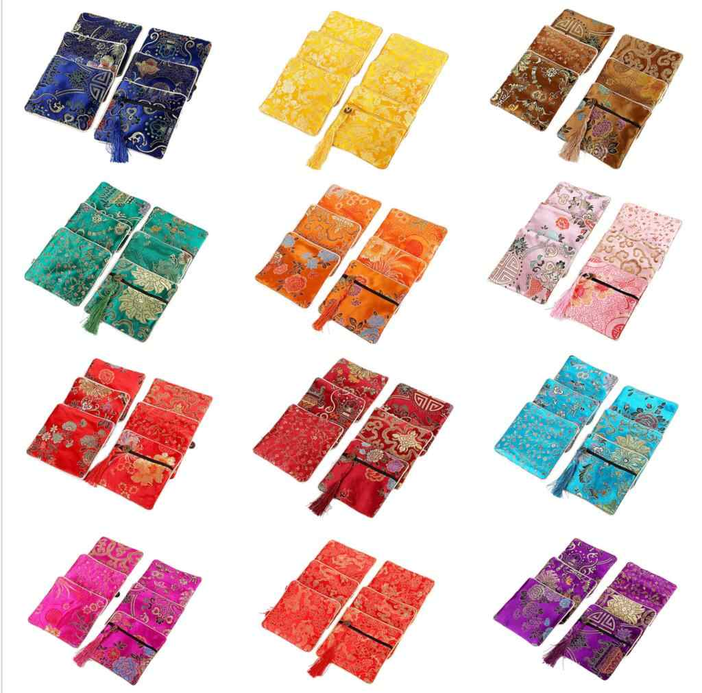 Традиционные шелковые дорожные сумки классические китайские вышитые украшения упаковка сумка органайзер сумки ювелирные изделия советы