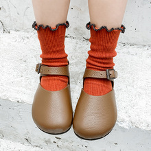 Z132 Childrens socks Tide childrens Spring fungus lace Pure color Cotton