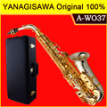Новый бренд YANAGISAWA A-WO37 альт саксофон посеребренный золотой ключ профессиональный саксофон мундштук с чехлом и аксессуарами