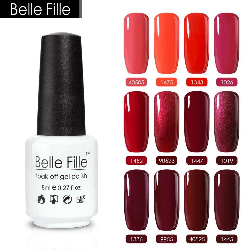 Vampire Nail Polish: Belle Fille 8ml Red Series Color Nail Gel Polish Vampire