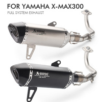 Motorcycle Akrapovic Exhaust Pipe Muffler Mid Link Pipe Full System For Yamaha XMAX 300 XMAX 250 2017 2018 x max 300 250 Slip on