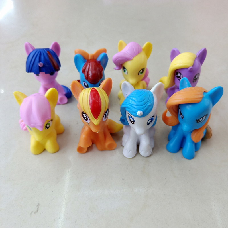8pcs different styles my cute pvc unicorn little poins action figure anime figure toys Collection Model Doll christmas gift in Action Toy Figures from Toys Hobbies