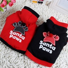 Pet Dog Fashion Santa Paws Clothes Pullover Warm Costumes T Shirt Puppy Coat Large
